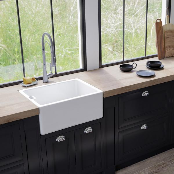 High-quality sink Clovis - single bowl, ceramic - ambience 1