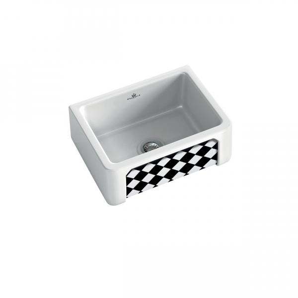 High-quality sink Henri I Arlequin - single bowl, decorated ceramic - ambience 3