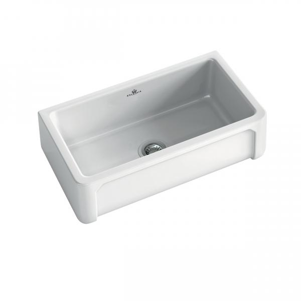 High-quality sink Henri II - single bowl, ceramic - ambience 1