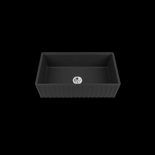 High-quality sink Louis Le Grand III black - single bowl, ceramic
