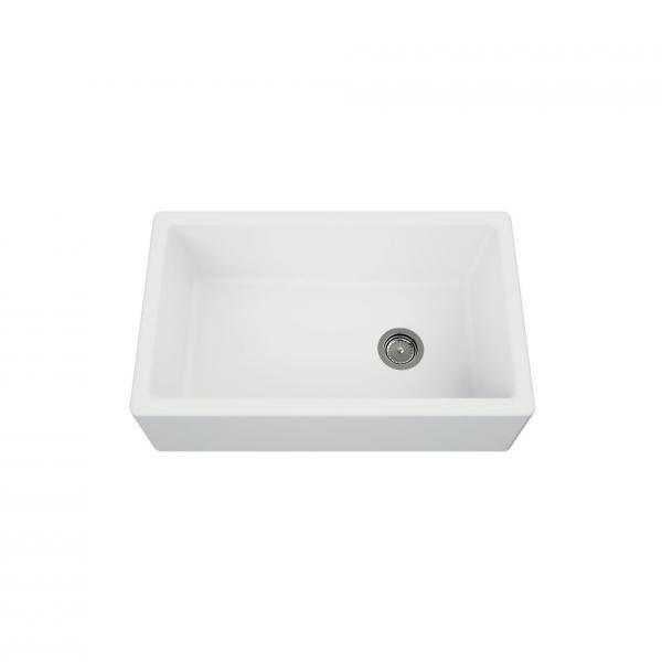 Evier haut de gamme Philippe granit blanc - 1 bac