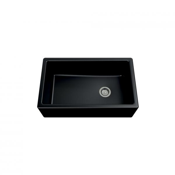 Evier haut de gamme Philippe granit noir - 1 bac
