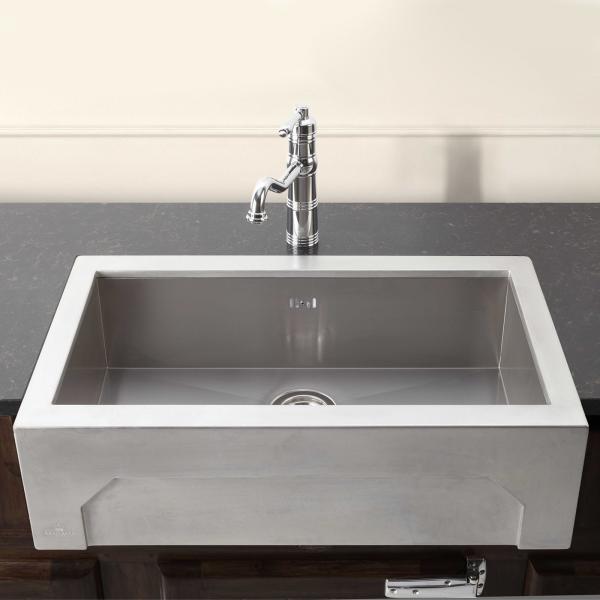 High-quality sink Napoléon - single bowl, pewter