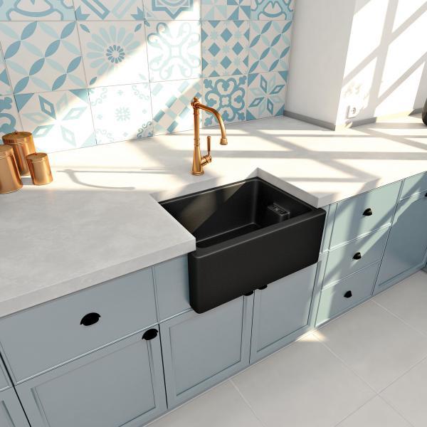 High-quality sink Clovis granit black - one bowl ambient