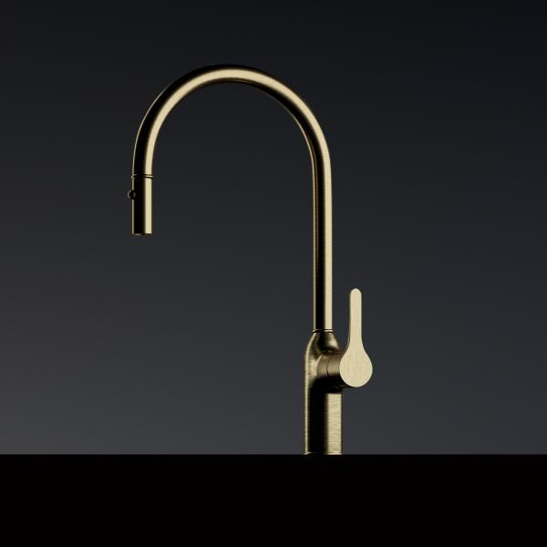 Mitigeur avec douchette haut de gamme Emma - vieux bronze - ambiance 1