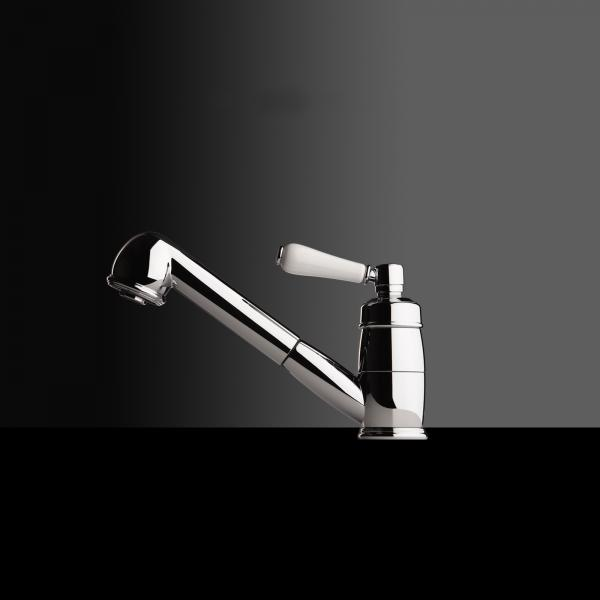 High-quality single lever tap Lionor - pull out spray - Chrome